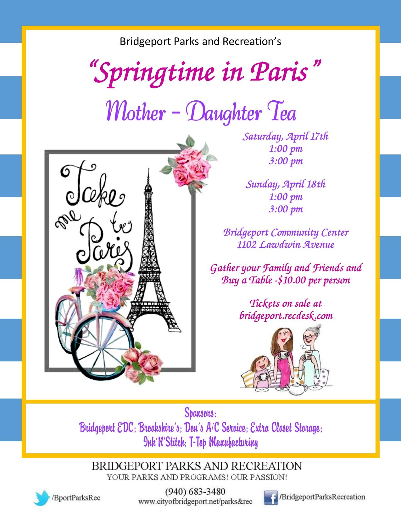 Mother Daughter Tea 2021 Flyer