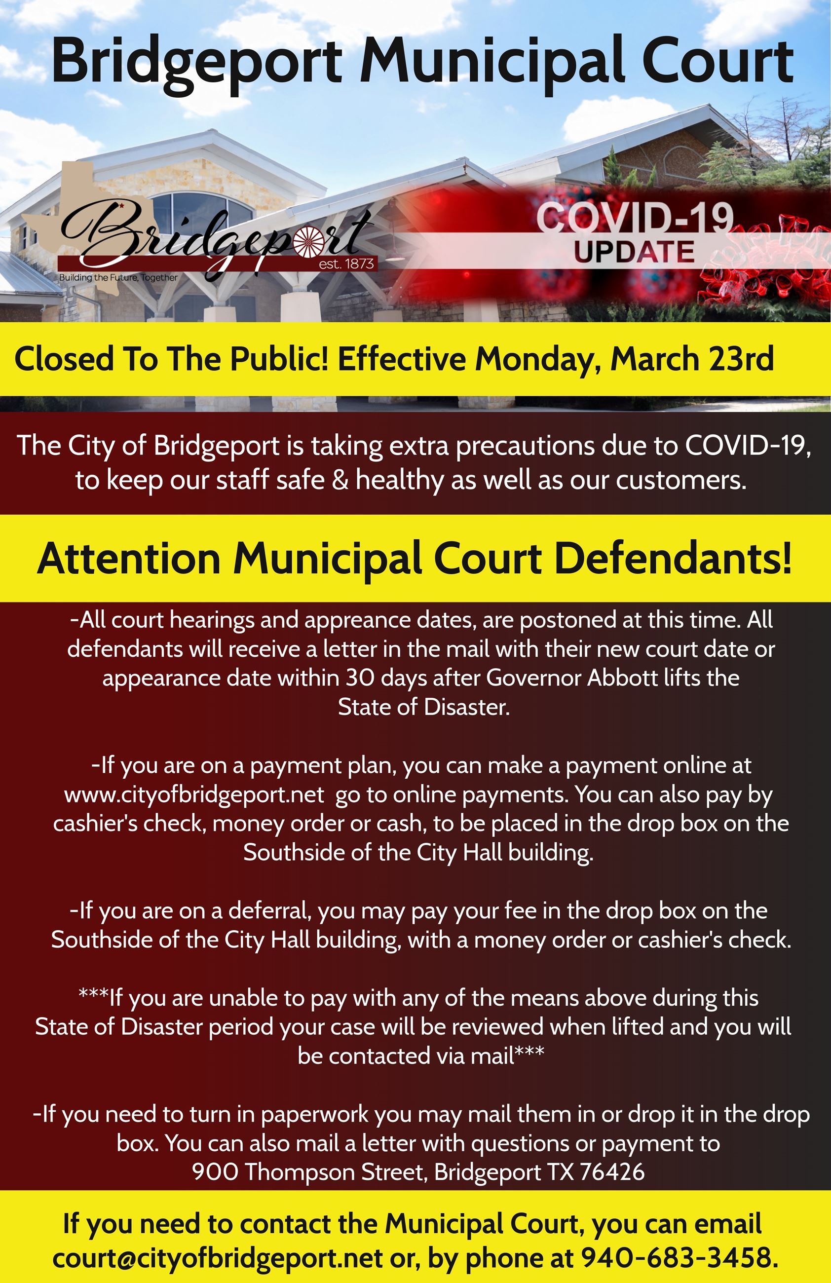 COVID-19 Court Closure to Public
