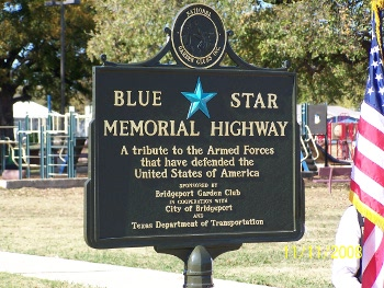 Blue Star Highway Memorial Marker