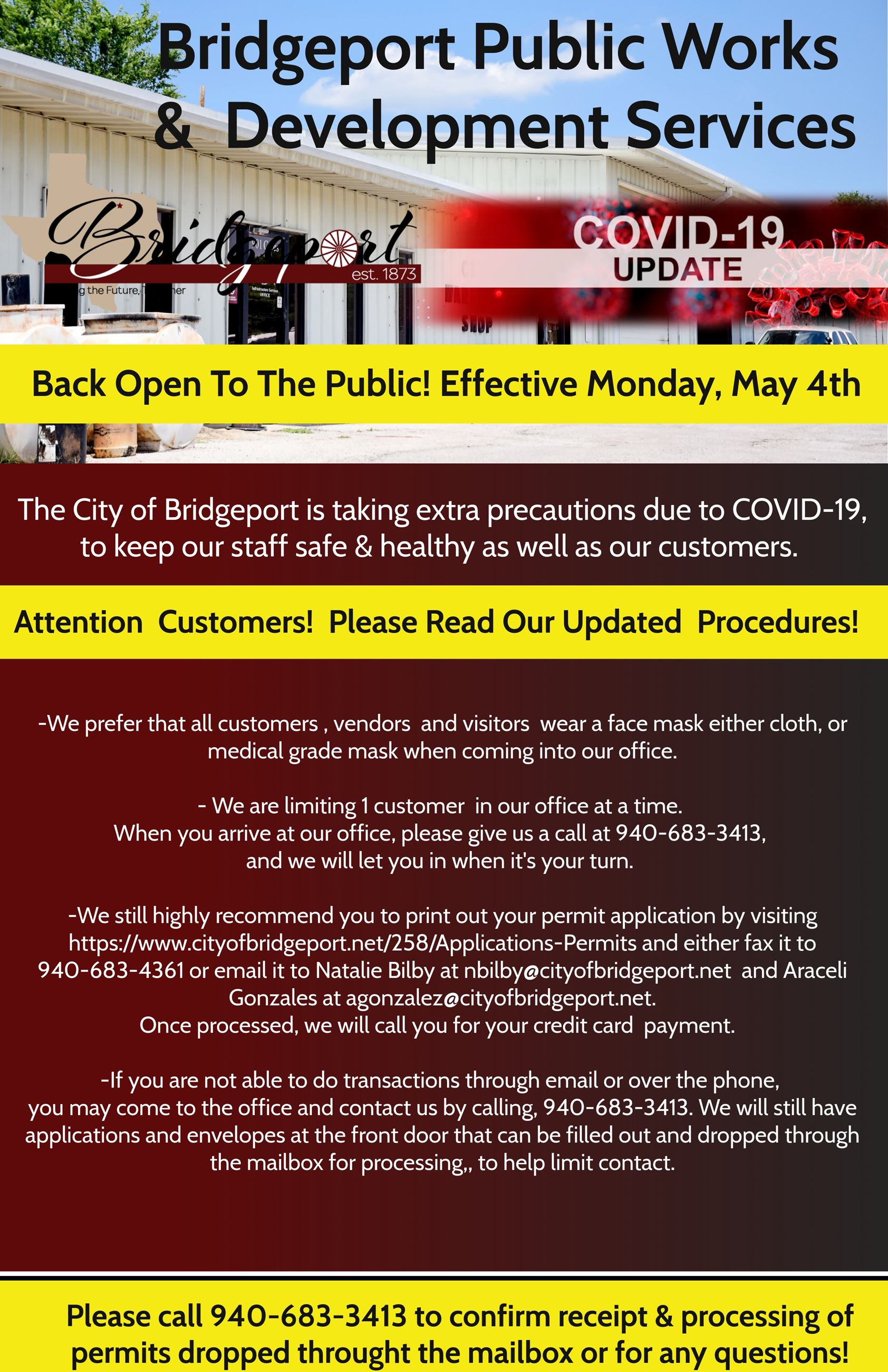 Public Works- Open to the public May 4th- revised