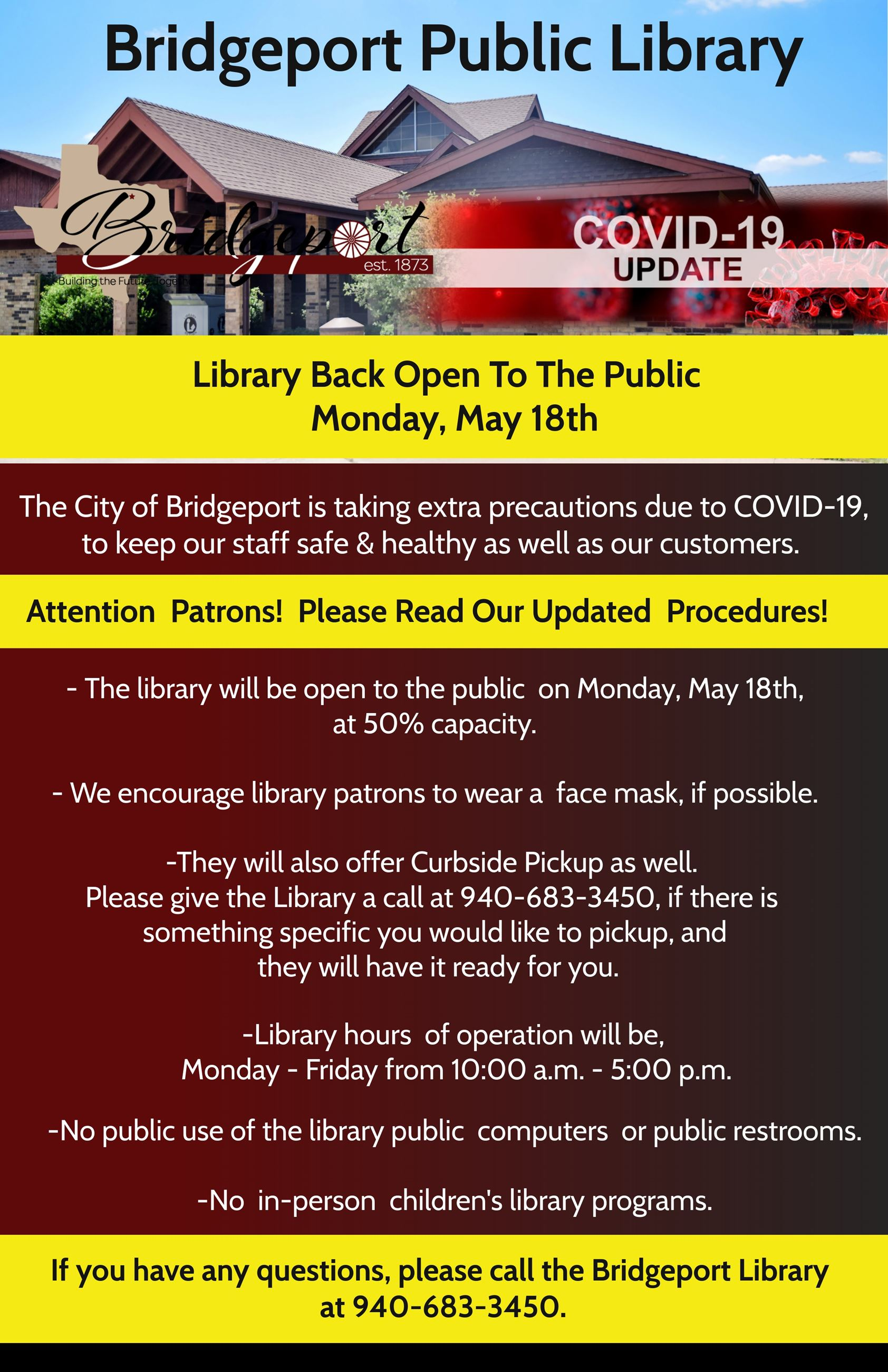 Library- Back Open May 18th
